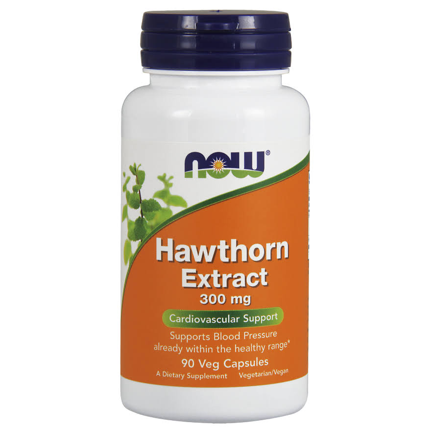 Now Foods Hawthorn Extract Supplement - 90 Veg Capsules