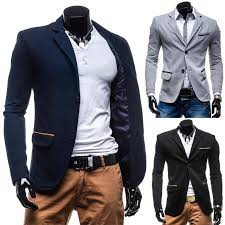 New Fashion Turn Down Collar Slim Male Blazer Autumn Mens Jackets Men Suit Coat Casual Dress Party Suits 074 Online