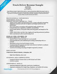 Truck Driver Resume Sample Delivery Objective Download Now