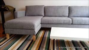 ikea karlstad sofa with chaise cover slipcovers replacement legs
