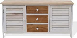 srl nachttisch sideboard kommode 3 schubladen 2 türen weiß holz modern zuhause wohnzimmer code re4184