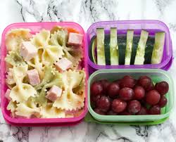 Healthy Bow Tie Pasta With Cucumbers And Grapes