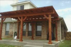 wooden patio roof plans