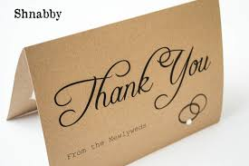 Rustic Thank You Cards Items Similar To Wedding With Photo Insert