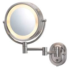jerdon hl65n 8 inch lighted wall mount makeup mirror