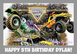 100 Kids Monster Trucks Details About MONSTER JAM MONSTER TRUCK A4 EDIBLE IMAGE CAKE TOPPER BIRTHDAY PARTY KIDS ADULTS