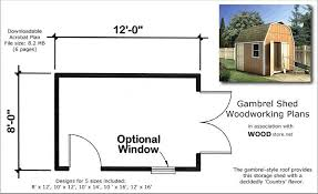 12x16 Gambrel Storage Shed Plans Free by My Review