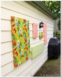 how to make outdoor wall in my own style