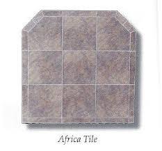 africa tile ceramic hearth pad board pellet stoves brown