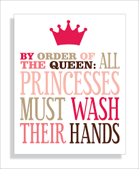 Chevron Print Bathroom Decor by Princess Bathroom Art Print Girls Bathroom Wall Decor Wash Your