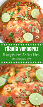 5 Ingredient Skillet Fish Veracruz
