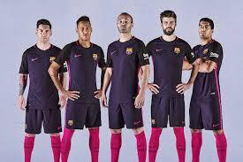 fc barcelone voilà le nouveau maillot extérieur 2016 2017 du