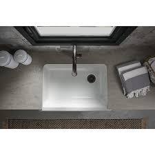 Self Trimming Apron Front Sink by Kohler K 5827 0 Whitehaven Self Trimming Under Mount Single Bowl