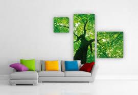 dekoration glasbild the trees 3 teilig bild baum natur
