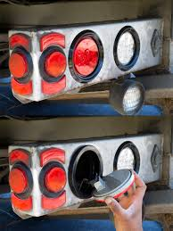 Round LED Truck Trailer Lights - 4