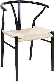 hlc stuhl für esszimmer garten elegantes design gute qualität schwarz
