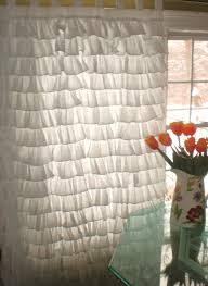Sears White Blackout Curtains by Interior Window Accessories Exciting White Ruffle Curtains