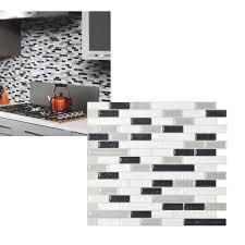 Smart Tiles Bellagio Mosaik by Smart Tiles Original Peel U0026 Stick Backsplash Wall Tile Walmart Com