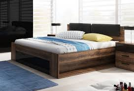 bett futonbett 160x200cm monastery eiche schwarz hochglanz schublade modern schlafzimmer
