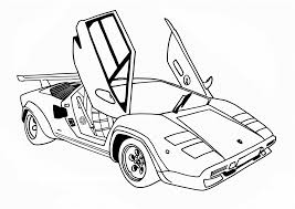 Printable Cars Coloring Pages Free Race Car For Kids