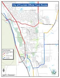 Truck Routes - City Of Fountain Delivery Goods Flat Icons For Ecommerce With Truck Map And Routes Staa Stops Near Me Trucker Path Infinum Parking Europe 3d Illustration Of Truck Tracking With Sallite Over Map Route City Mansfield Texas Pennsylvania 851 Wikipedia Road 41 Festival 2628 July 2019 Hill Farm Routes 2040 By Us Dot Usa Freight Cartography How Much Do Drivers Make Salary State Map Food Trucks Stock Vector Illustration Dessert