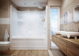 Lasco Bathtubs Home Depot by Designs Ergonomic One Piece Bathtub Shower Surround 114 Hi