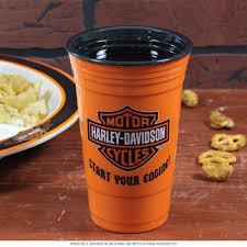 Harley Davidson Bathroom Themes by Harley Davidson Start Engines Cup Orange 18 Oz Drink Cups