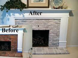 Paint Colors Living Room Red Brick Fireplace by Best 25 Whitewash Brick Fireplaces Ideas On Pinterest Update
