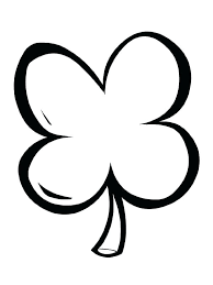 Four Leaf Clover Coloring Pages Page Printable Simple 4
