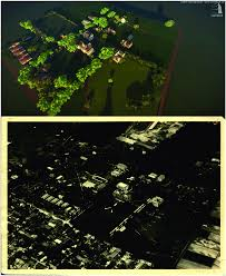 100 Birdview Of Campus In LumenRT And The Historical Photo In Comparison