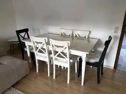 ikea esstisch mit 6 stühle
