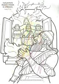 Fiery Furnace Coloring Page Kids Within Shadrach Meshach And Abednego