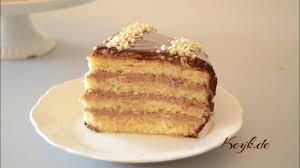 nutella mascarpone filling with chocolate glazed cake