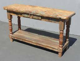 Vintag Rustic Farmhouse Reclaimed Distress Wood SPANISH STYLE Sofa Console TABLE Unknown