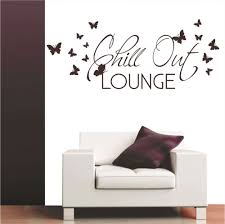 chill out lounge wall decal butterfly vinyl sticker mural