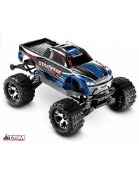 100 Blue Monster Truck TRA670864 STAMPEDE 4X4 VXL BLUE 110 SCALE MONSTER TRUCK WITH TQI