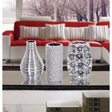 100 Modern Chic Decor Ative Vases 8 In Metallic Silver Glamorous