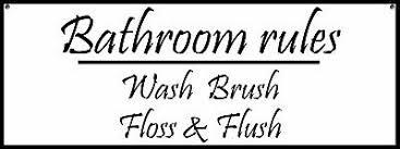 badezimmer regeln schild zeichen wandkunst lustig 3 ebay