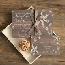 Elegant Grey Winter Wedding Invitations EWI411