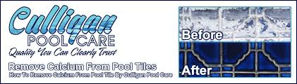 how to remove calcium from pool tiles fast culligan pool care