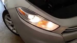 2013 2016 dodge dart testing headlights after changing bulbs
