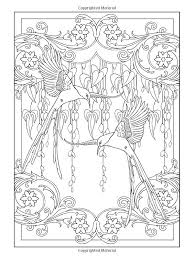 Art Nouveau Animal Designs Coloring Book Dover Books Marty Noble