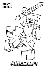Minecraft Stamp Long Nose Colouring Pages Page 3