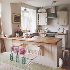 I Love Country Style Kitchens Kitchen With Cream Cupboards And Wooden Worktops Emma Bridgwater Accessories Add A Hint Of Charm