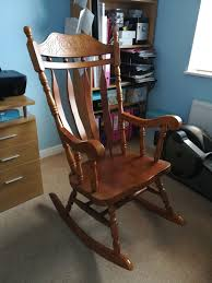 Solid Oak Rocking Chair Traditional Wooden Rocking Chair White Palm Harbor Wicker Rocking Chair Pong Rockingchair Oak Veneer Hillared Anthracite Ikea Royal Oak Rover Buy Ivy Terrace Classics Mahogany Patio Rocker Vintage With Pressed Back Jack Post Childrens Childs Antique Chairs Mission Armchair Tiger Styles In Huntly Aberdeenshire Gumtree Solid Rocking Chair
