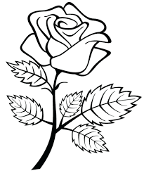Favorite Roses Coloring Book Pdf Rose Drawing Kids Free Printable Pages Flowers For Adults Full