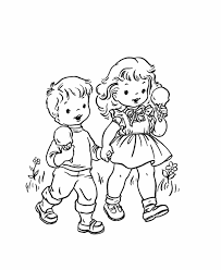 Girl And Boy Coloring Pages 8 Unusual Idea 8cG5donca
