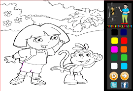 Full Size Of Coloring Pagedora Games Dora Color Game Page