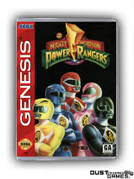 Mighty Morphin Power Rangers GEN Genesis Game Case Box Cover Brand ...