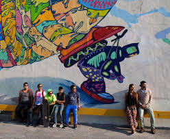 Denver International Airport Murals New World Order these nunavut teenage artists finished a massive toronto mural vice